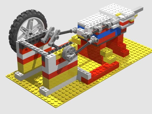 A Lego Steam Engine